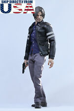 "1/6 Resident Evil Leon S Kennedy Leather Jacket Clothing Set For 12"" Male Figure"