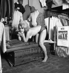 1960s Negative-nude blonde pinup girl Carla Marsh-Mad Hatter Invaded t976913
