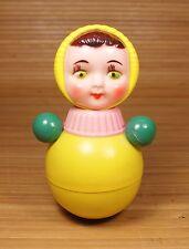 """Vintage Girl 6"""" Roly-Poly Bells Inside 1960's Ussr Soviet Era"""