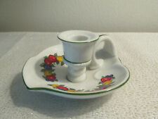 Della Robbia Candlestick Holder White With Fruit Design Pwf Japan No Chips!