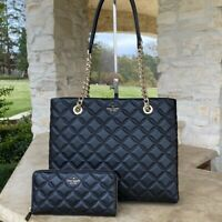 NWT KATE SPADE NEW YORK NATALIA QUILTED CHAIN HANDLE TOTE/WALLET OPTIONS
