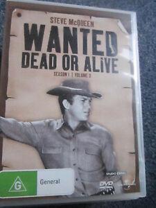 DVD WANTED DEAD OR ALIVE SEASON 1 VOLUME 3 STEVE MCQUEEN **** MUST SEE ****