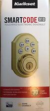 Kwikset 99100-077 SmartCode 910 Z-Wave Plus Deadbolt, Polished Brass