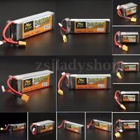 ZOP Power 11.1V 7.4V  14.8V 22.2V 500-5000mAh 65C 60C Lipo Battery XT60 Plug