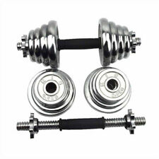 10kg Adjustable Pair Total 22 Lbs Cast Iron Gym Strength Weight Dumbbells Set