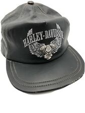 Harley Davidson Motorcycles Hat Black Leather Cap Baseball Biker