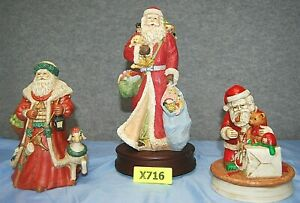 Musical Santas Lot of 3 Assorted      X716