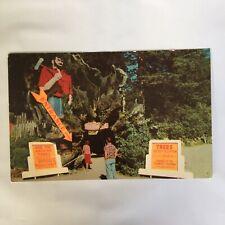 Paul Bunyan Trees of Mystery Redwood Highway California Unposted Postcard