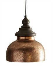 ANTIQUE COPPER HARD WIRE PENDANT LIGHT By SPLIT P/PENDANT/HANGING LIGHTING