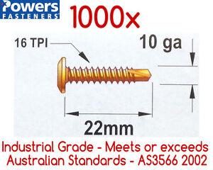 1000x10g-16 x 22mm Wafer Head Self Drilling Metal Tek Screws /Phillip Head Screw