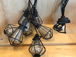 7 Bulb Industrial Chic Spider Ceiling Light Fitting G9 Chandelier Retro