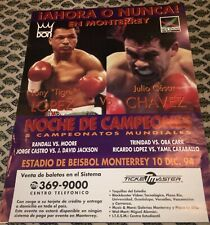JULIO CESAR CHAVEZ V TONY LOPEZ-WORLD Super LWC-1994-BOXING POSTER-FROM MEXICO!