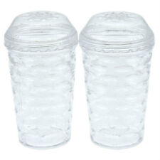 "Cooking Concepts 3.5"" Plastic Texture Salt and Pepper Shakers with Twist off Top"