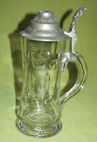 Glas Krug m. Zinndeckel 0,5 L Kaiserzeit