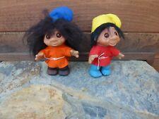 2 Dam Made in Denmark 1980 8 Inch Trolls Troll Dolls