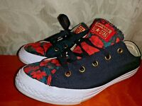 CONVERSE ALL STAR Skate VALENTINE ROSES Black Sneaker Athletic Shoes Sz 3 👣b11