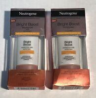 2 Neutrogena Bright Boost Moisturizer With Sunscreen SPF 30, 1 fl oz