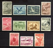 490-CUBA-1956.BIRDS..Yvert.nº 135-145 Scott C136-C146 Set Unused.SERIE MNH**