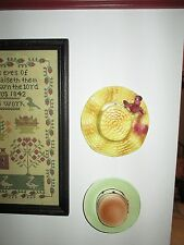 Vintage Calif Pottery Wall Pocket Vase Authentic Straw Hat McCulloch Art Pottery