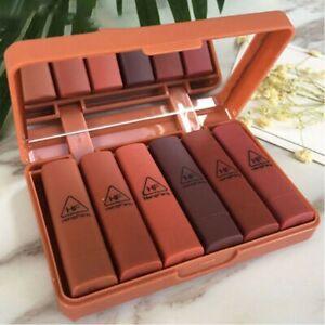 Matte Lipstick Set Long Lasting Makeup Lip Stick Beauty Cosmetic Waterproof 6PCS