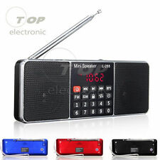 Mini Portátil FM Radio Stereo MP3 reproductor USB/AUX disco Micro Sd/Tf Altavoz