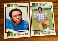 1973 Topps #38 Decon Jones and #118 John Mackey - Chargers