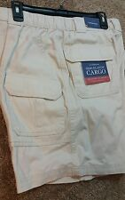 Men's Croft&Barrow relaxed fit side-elastic cargo shorts size 46 new Drawstring