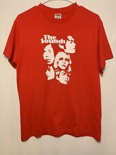 Vintage The Sounds Medium M Red Shirt Faces Tour Rare Merch Swedish Indie Rock