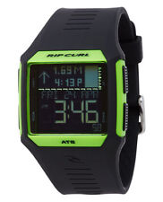Rip Curl Rifles Midsize Tide A1124 Black Silicone Digital Quartz NEEDS BATTERY