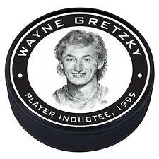 Wayne Gretzky Edmonton Oilers 1999 Hall of Fame Induction 3D Textured Puck