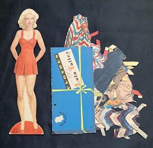 Original LOLA TALLEY Paper Doll, Cut Star Set, Whitman, 1942