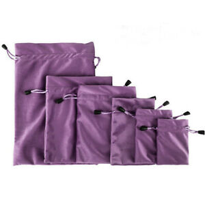 10x Velvet Bags Jewellery Packing Wedding Party Favors Gifts Drawstring Pouch