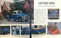 1954 GMC Pickup Truck Vintage Advertisement Print Art Car Ad Poster LG78