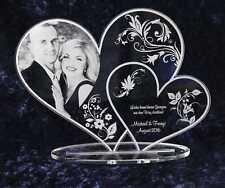Acryl Doppelherz mit Laser-Foto-Gravur • dein Laserbild • ideal zum Valentinstag