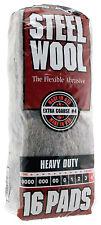 Case Rhodes American Steel Wool Grade 4 - Extra Coarse~ 6 bags of 16 pads