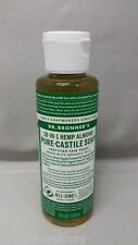 Dr Bronner's Pure-Castile Soap 4oz Almond Scent Concentrated/Organic/Fair Trade