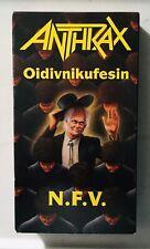 Anthrax / Oidivnikufesin N.F.V (1988) - Vhs-Live in Concert-Thrash Metal