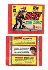 1982 Topps Hockey Sticker Pack w/ 6 Stickers