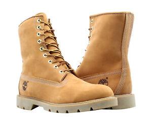 Timberland 8-Inch Basic Waterproof Wheat Nubuck Men's Boots 10081
