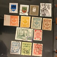 LATVIA postage stamps lot of 13 old