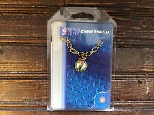 Boston Celtics NBA Gold Tone Charm Bracelet NEW