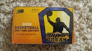 2020 SUPER BREAK One Time Basketball Box, Minimum 1 Graded BGS PSA Card Per Box