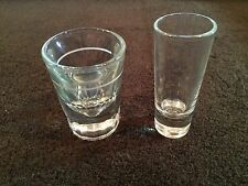 Vintage~2~Shot Glasses~Tall~Heavy~Measure~Gift~Bar~Decor~Collect~Use~Rare~GUC~