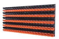 208 teiliges SET Lagersichtboxenwand Stapelboxen mit Montagewand Werkzeugwand