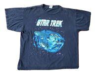 Vintage 90s T Shirt Star Trek Deep Space Nine Sci-Fi Starfleet Enterprise XL