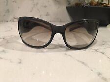 PRADA Womens Designer Sunglasses SPR 03G OAR-4M1 115 Grey clear frame gradient