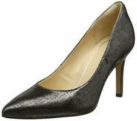 Clarks Ladies Laina  Rae Black / Metallic Leather Court Shoes Size uk  5 1/2
