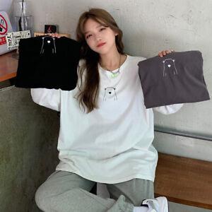 Japanese Korean streetwear fashion oversized bear light crewneck sweater (HD13)