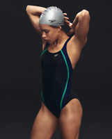 Speedo Quantum Splice Powerflex One-Piece Swimsuit 7824 Size 10