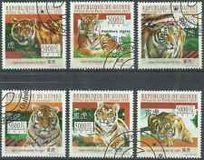 Timbres Animaux Félins Tigres Guinée 5146/9 o  de 2010 lot 18839 - cote : 15 €